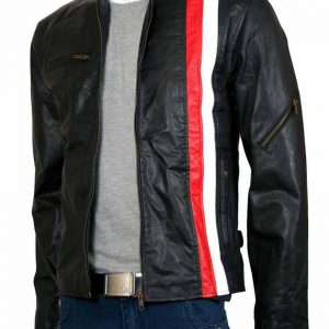 X Men Scott Cyclops Red Stripe Jacket Scott Cyclops X Men Jacket