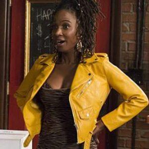 Veronica Fisher Leather Jacket Shameless Shanola Hampton Yellow Jacket