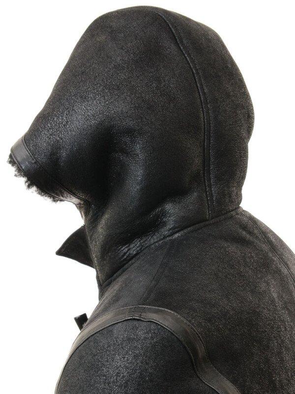 Sheepskin Duffle Hodded Trench Coat