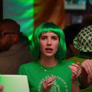 Emma Roberts Holidate 2020 Sloane Green T-Shirt