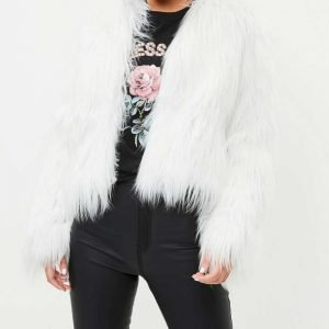 I Hate Suzie Billie Piper White Faux Fur Suzie Pickles Jacket