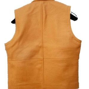 Tan Brown Ben Cartwright Lorne Greene Leather Vest