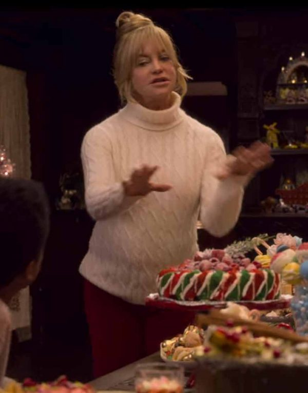 Goldie Hawn The Christmas Chronicles 2 Mrs. Claus White Sweater