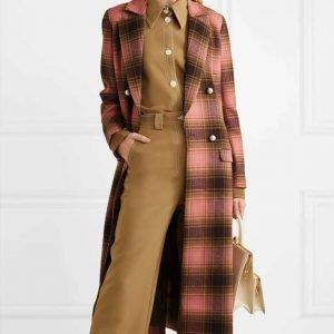 The Duchess Katherine Plaid Trench Coat