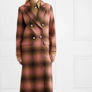The Duchess Katherine Ryan Double-breasted Plaid Trench Coat