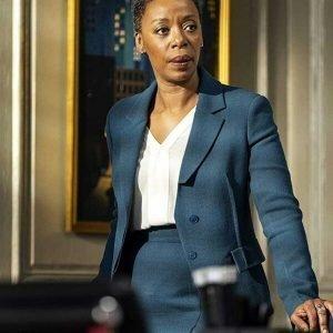 Noma Dumezweni The Undoing Haley Fitzgerald Blue Blazer