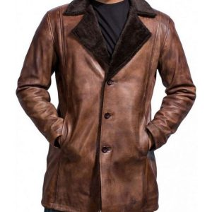 The Wolverine Hugh Jackman Brown Coat Hugh Jackman Shearling Coat