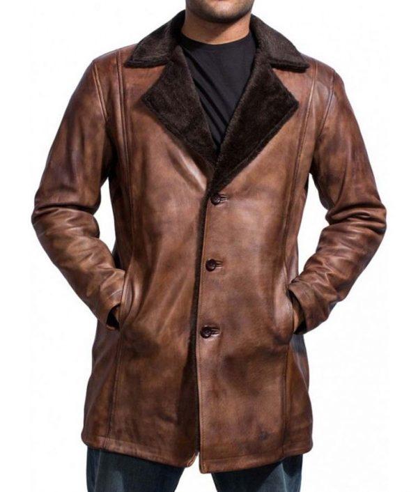 The Wolverine Hugh Jackman Brown Coat Hugh Jackman Shearling Coat