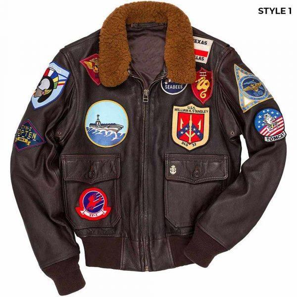 Top Gun G-1 Flight Tom Cruise Leather Bomber Jacket