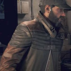 Video Game Watch Dogs 3 Legion Aiden Pearce Trench Leather Coat