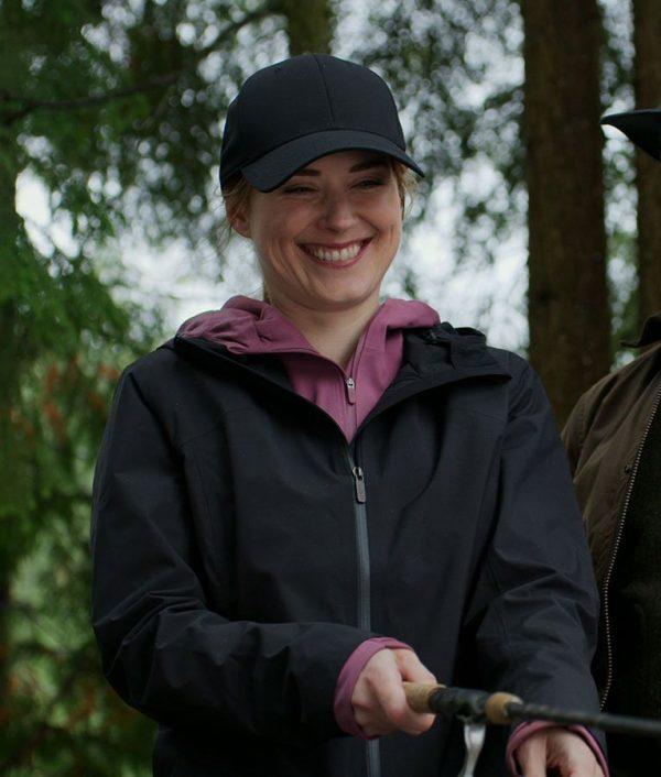 Melinda Monroe Virgin River Season 02 Blue Coat with Hood