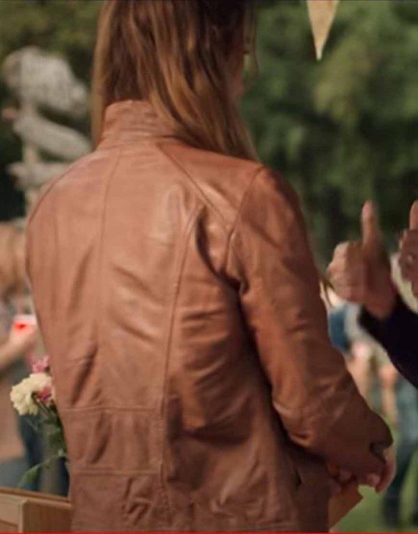 Melinda Monroe Virgin River Season 02 Alexandra Breckenridge Leather Jacket
