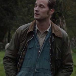 Anthony Wild Mountain Thyme Jamie Dornan Brown Leather Jacket