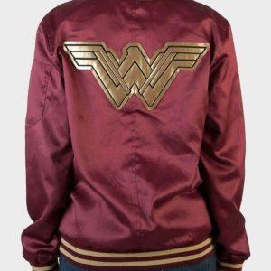 Wonder Woman Burgundy Varsity Letterman Jacket