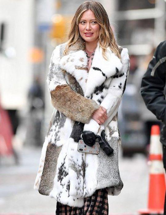 Hilary Duff Younger Fur Coat Kelsey Peters Mixed Fur Coat