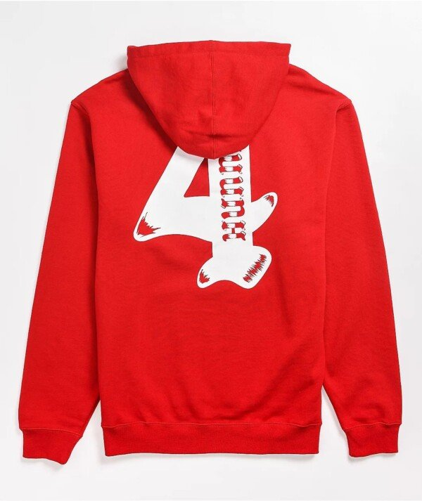 4Hunnid Worldwide Red Hoodie