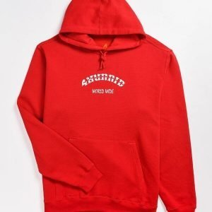 Large 4 Worldwide Red 4Hunnid Pullover Hoodie