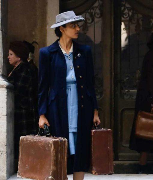 A Call To Spy Noor Inayat Khan Coat | Radhika Apte Wool-blend Long Coat