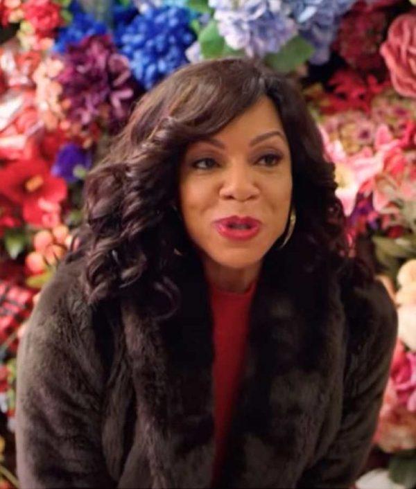 Wendy Raquel Robinson Coat - A Christmas Surprise Tanya Fur Coat