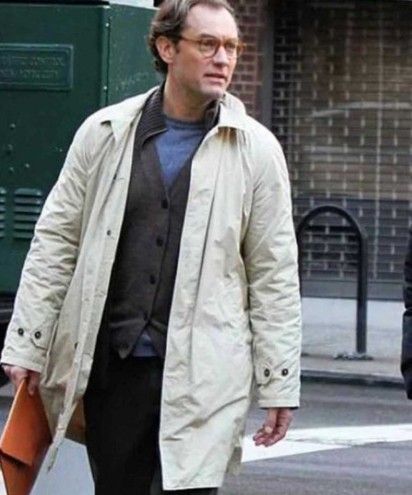 Buy Ted Davidoff Coat | A Rainy Day In New York Jude Law Coat