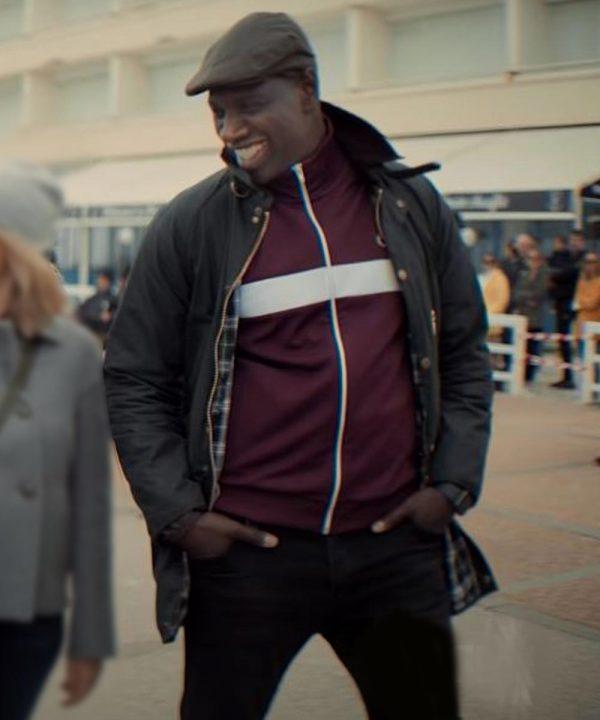 Assane Diop Arsene Lupin 2021 Omar Sy Black Cotton Jacket