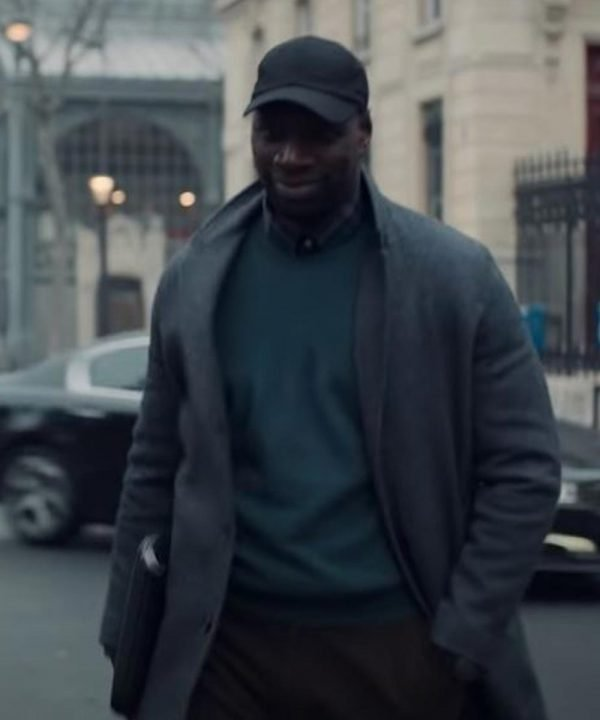 Omar Sy TV Series Arsene Lupin Assane Diop Mid-length Coat