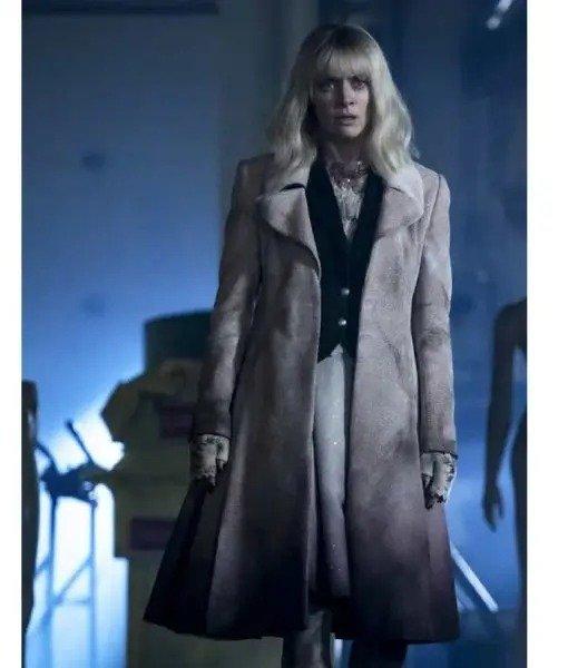 Rachel Skarsten Batwoman S02 Suede Leather Coat