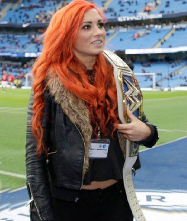 Becky Lynch Balck Fur Jacket | WWE Jacket - Hit Jacket