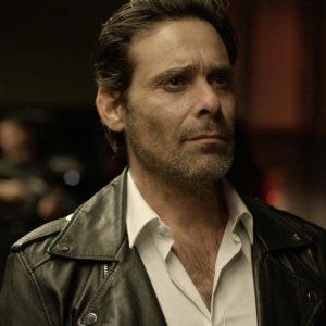 Break Even Zalman Leather Jacket | James Callis Black Leather Jacket