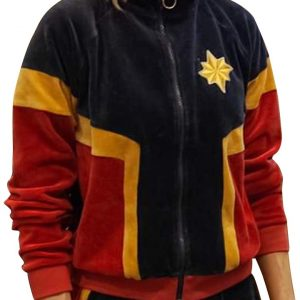 Captain Marvel Theater Tracksuit | Carol Danvers Captain Marvel Brie Larson Tracksuit