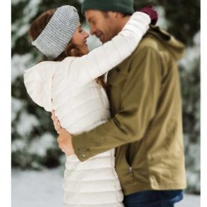 Katie Jolly Christmas in the Rockies White Puffer Coat with Hood | 40% OFF