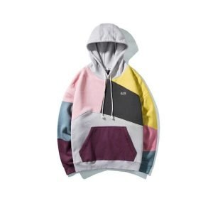 Color Block Pullover Hoodie | Colorful Unisex Hoodie for Sale