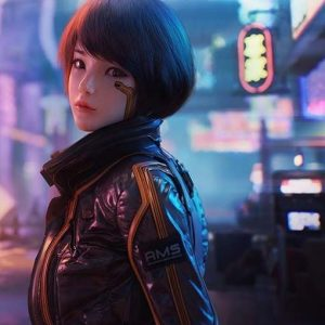 Video Game Cyberpunk Syn Brown Leather Jacket