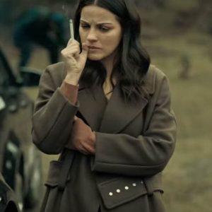 Alma Solares Dark Desire Maite Perroni Wool-Blend Trench Coat