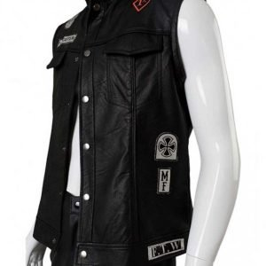St. John Road Captain Black Leather Vest