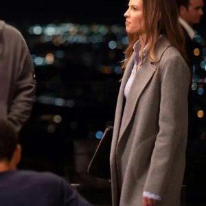 Detective Valerie Quinlan Fatale Coat | Hilary Swank Fatale Trench Coat
