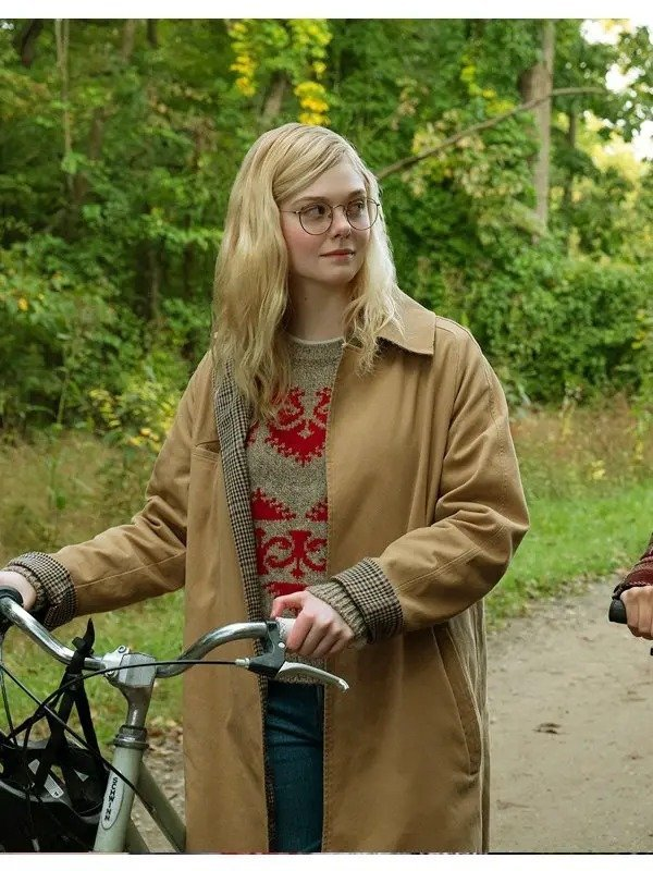 Violet-Markey-All-The-Bright-Places-Elle-Fanning-Cotton-Brown-Coat