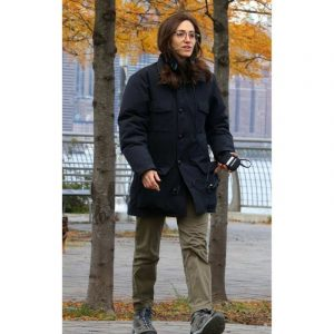 Emmy Rossum Modern Love Black Cotton Coat
