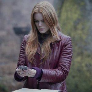 Fate: The Winx Saga Bloom Leather Jacket | Abigail Cowen Leather Jacket