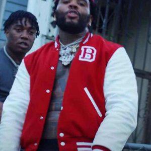 Fredo Bang No Security Kevin Gates Jacket | Red Varsity Jacket