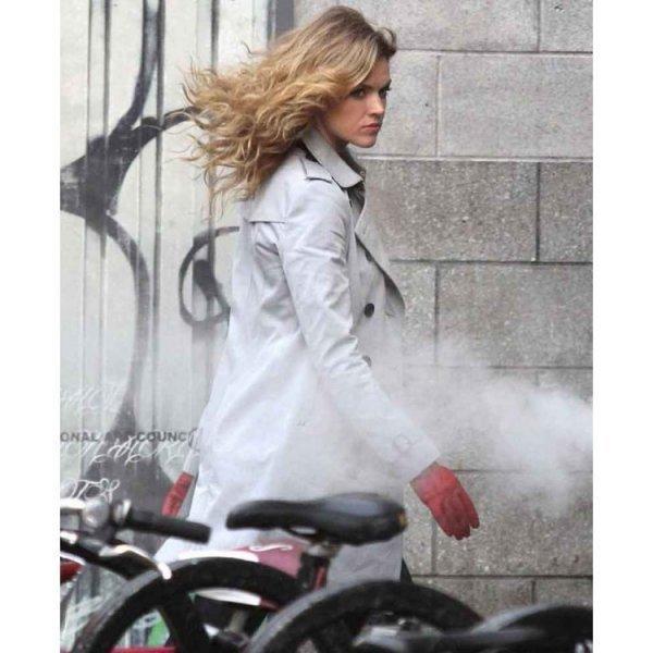 Gotham Barbara Kean White Coat