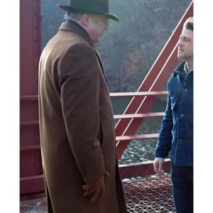 John Doman Gotham Brown Trench Coat Hit Jacket