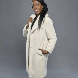 Hannah Christmas In Evergreen Bells are Ringing Sherpa Coat with Free Shipping