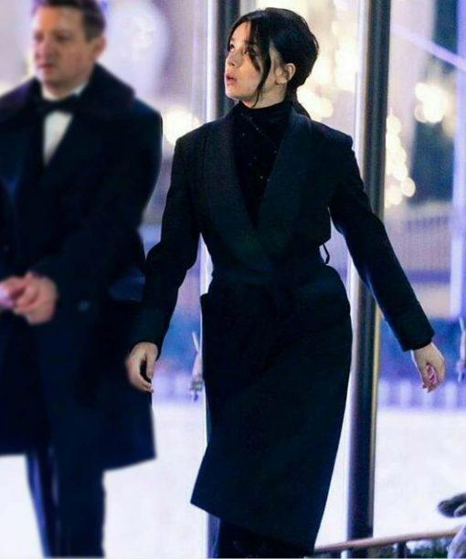 Hawkeye Kate Bishop Black Trench Coat