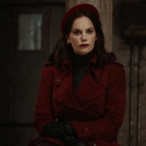 Mrs. Coulter His Dark Material Season 02 Coat | Ruth Wilson Red Leather Coat
