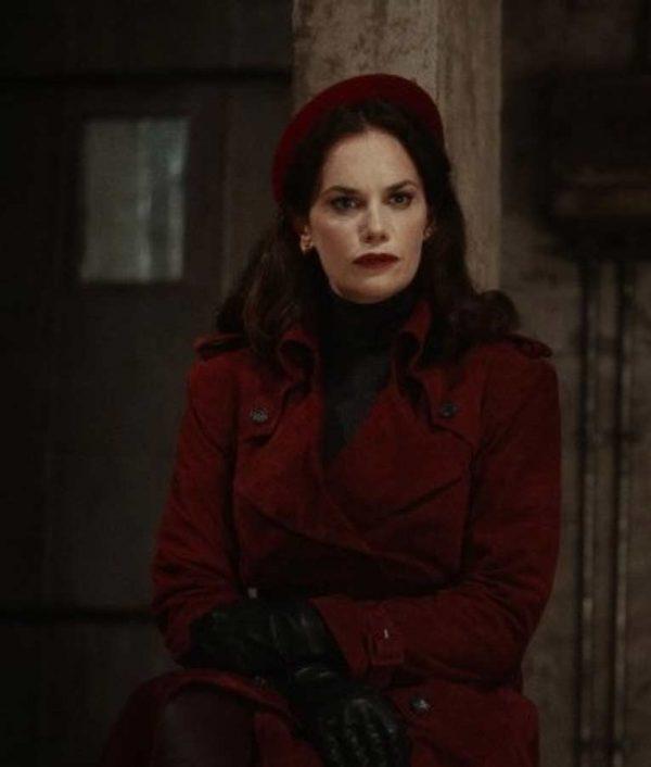 Mrs. Coulter His Dark Material Season 02 Coat | Ruth Wilson Red Leather Coat