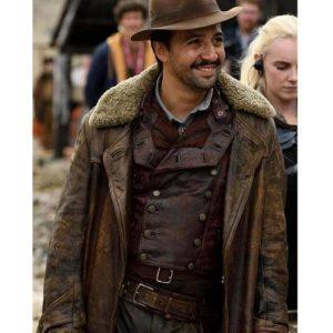 Lee Scoresby Leather Coat | TV Series His Dark Materials Coat Fur Collar