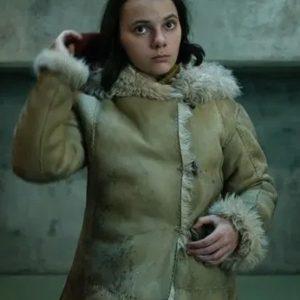 Dafne Keen Brown Fur Coat | His Dark Materials Lyra Belacqua Coat
