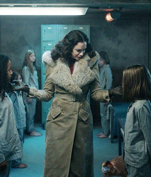 Mrs Coulter Shearling Coat | His Dark Materials Ruth Wilson Fur Coat