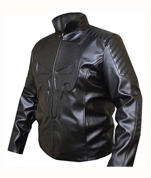 The Punisher Frank Castle Leather Black Jacket